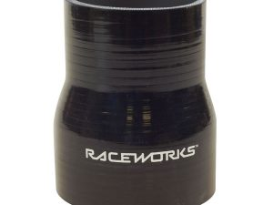 Silicone Reducer Straight Black Raceworks