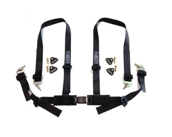Velo Clubman 4 Point Harness (Black)