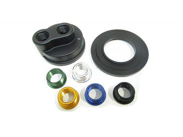 Aeroflow Billet Oil Cooler Block Adapter