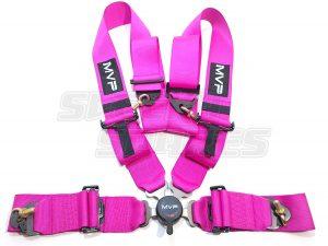 "Pink MVP Harness 3"" 4pt Cam Lock"