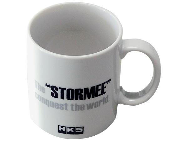 "HKS Coffee Mug ""STORMEE"" back view"